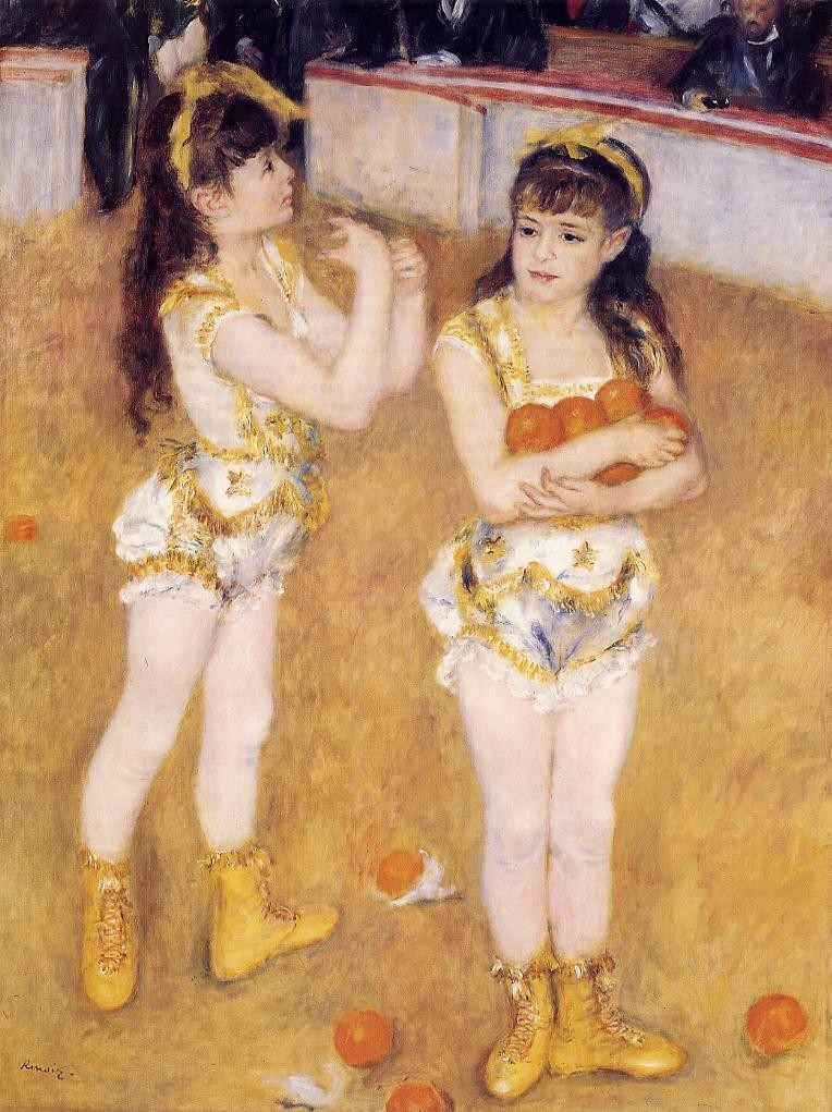 Acrobats at the Cirque Fernando aka Francisca and Angelina Wartenberg 1879